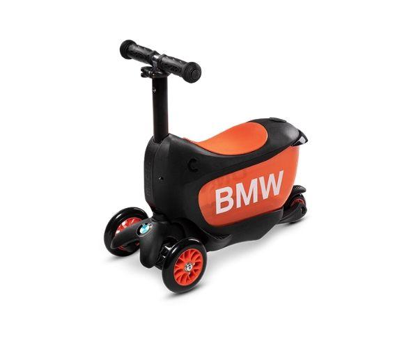 """Laste tõukeratas Micro """"BMW"""", lastele 2-5 aastat (must/oranž)"""