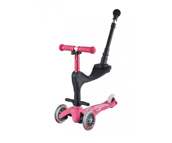 Laste tõukeratas Micro Mini Deluxe Plus 3in1 (roosa), lastele 12+ kuud