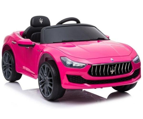Laste elektriauto Maserati Ghibli 2x45W roosa, puldiga