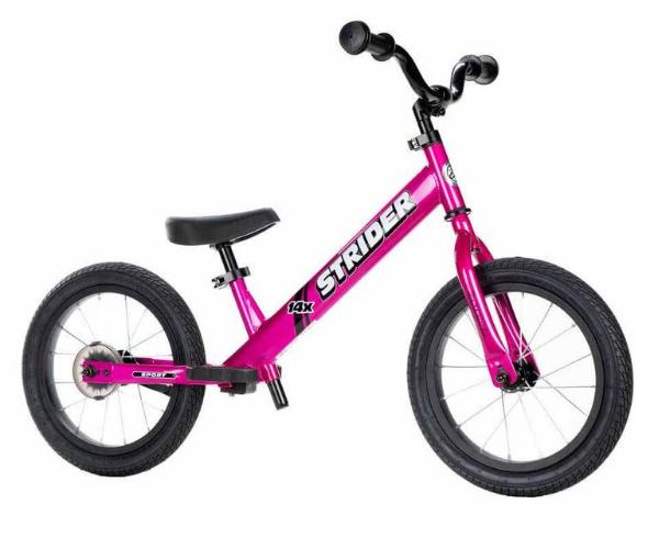 Laste jooksu- ja jalgratas Strider Sport 14 (roosa), vanuses 3-7 eluaastat
