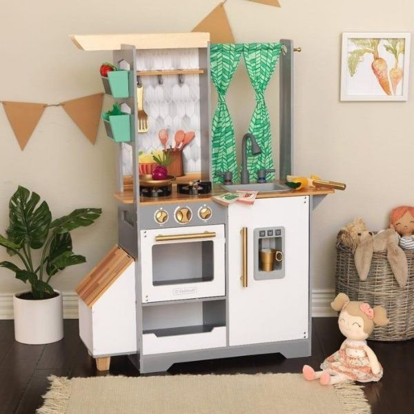Mänguköök 'KidKraft' Terrace Garden Play Kitchen valguse ja helidega