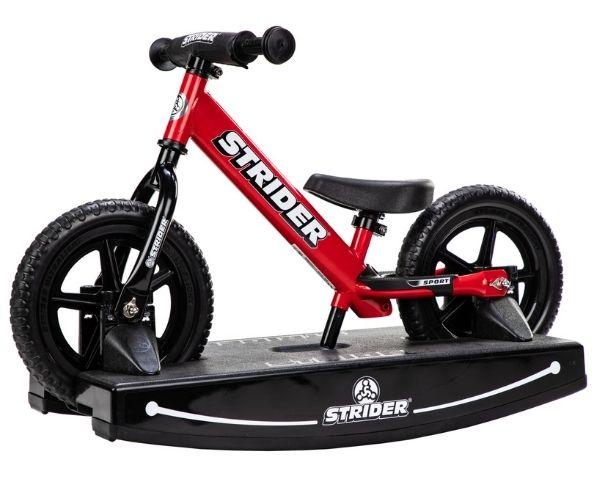 Jooksuratas kiigealusega Strider Sport 12 (punane)