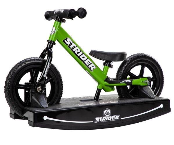 Jooksuratas kiigealusega Strider Sport 12 (roheline)