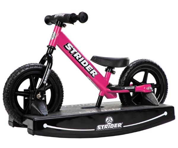 Jooksuratas kiigealusega Strider Sport 12 (roosa)