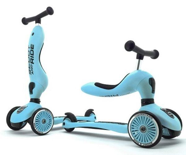 Laste tõukeratas Scoot and Ride Highwaykick 1 kaks ühes (Blueberry), lastele 1-5 aastat
