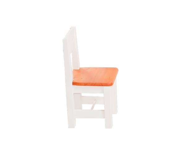 Täispuidust lastetool 'Rubi', valge-oranž