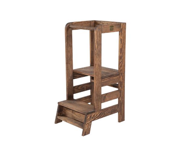 Laste puidust abitool kööki (torntool), pruun