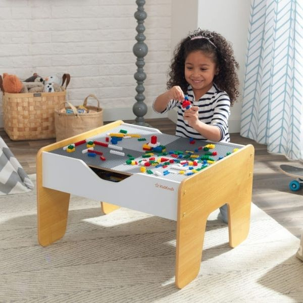 'KidKraft' Activity Table 2in1, legolaud ja mängulaud rongirajaga