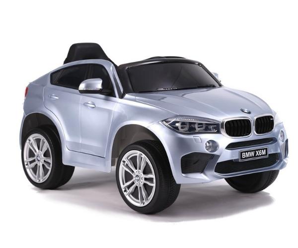 Laste elektriauto BMW X6M 2x45W hõbedane, puldiga