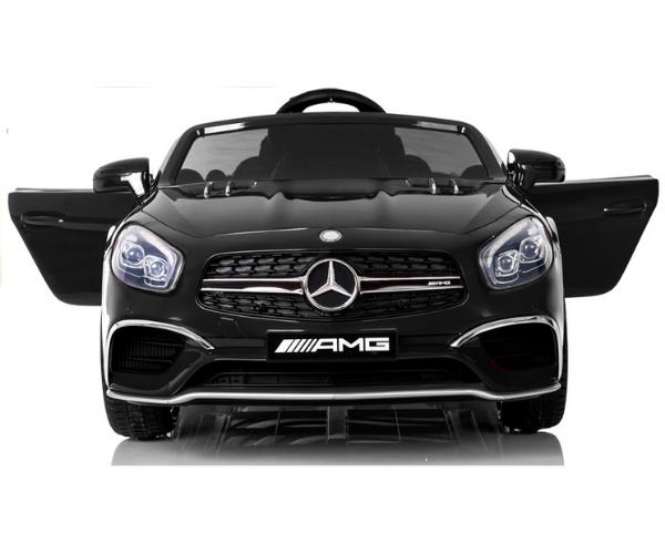 Laste elektriauto Mercedes SL65 2x45W must (LCD ekraan), puldiga