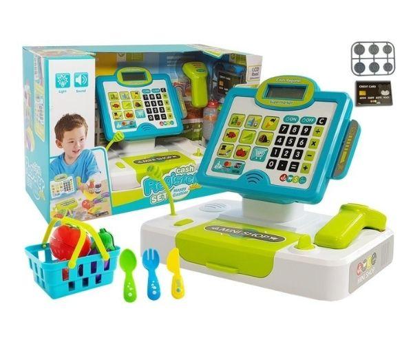 Laste kassaaparaat elektrooniline (kalkulaatoriga)