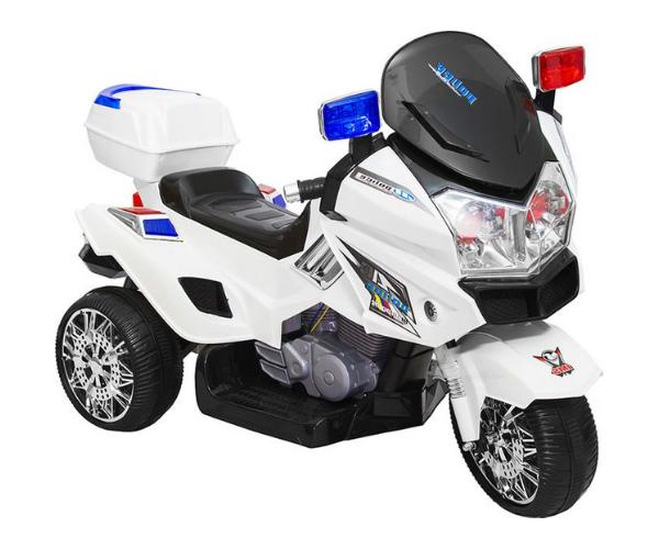 Laste mootorratas akuga 'Politsei' hoiukastiga