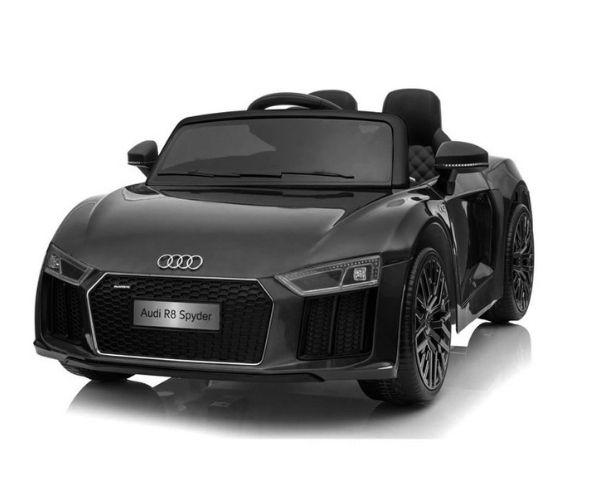 Lasteauto akuga Audi R8 Spyder must, puldiga