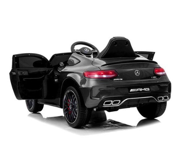 Lasteauto akuga Mercedes C63 2x45W must, puldiga