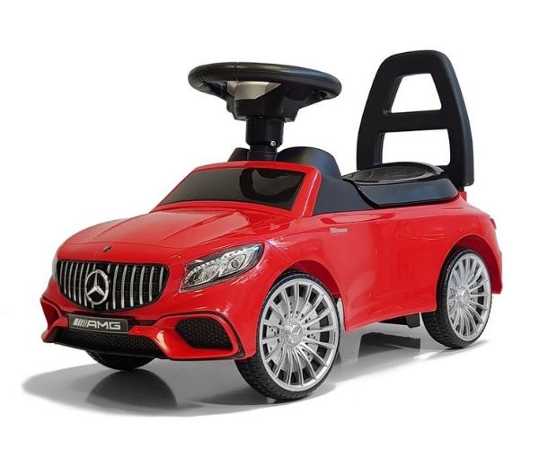 Pealeistutav auto Mercedes AMG S65 helidega, punane