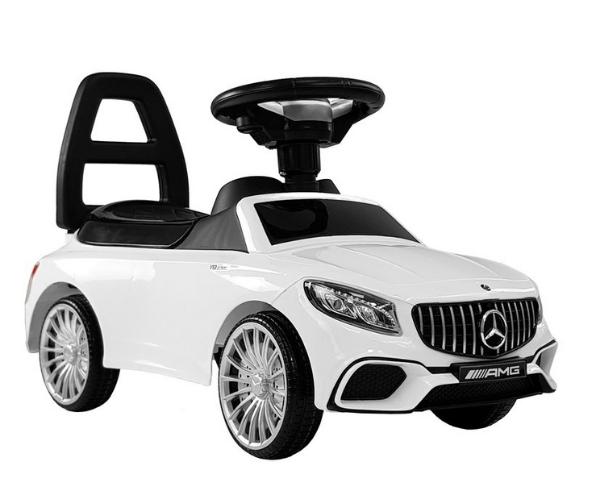 Pealeistutav auto Mercedes AMG S65 valguse ja helidega, valge