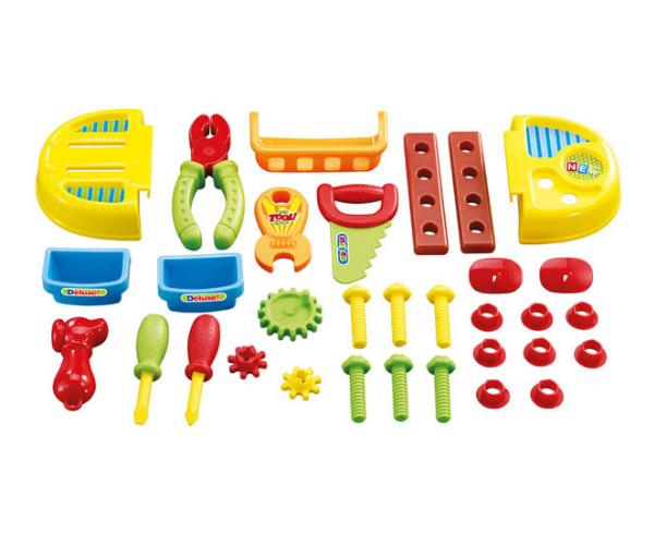 Poiste tööriista komplekt ja tool + 33 tarvikut