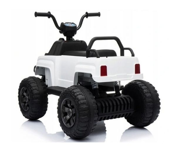 Laste elektriline ATV Small Spyder 2x45w valge, puldiga