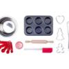 Laste muffini ja piparkoogi küpsetamise komplekt