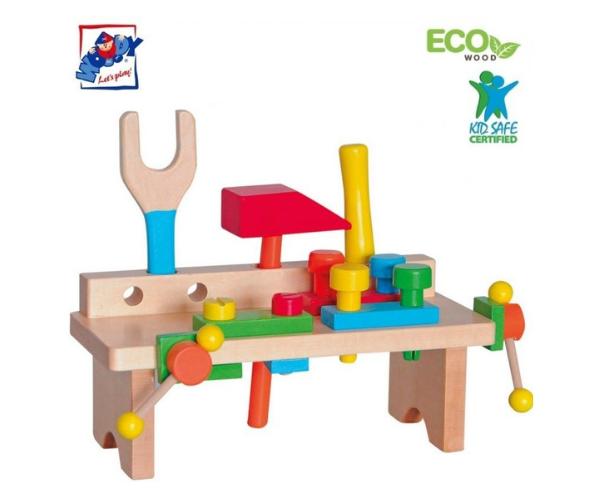 Laste puidust tööriistakomplekt (Eco Wooden)