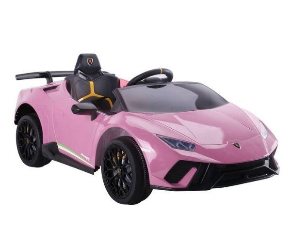 Laste elektriauto Lamborghini 4x45W roosa, puldiga