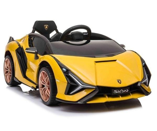 Laste elektriauto Lamborghini Sian 2x45W kollane, puldiga