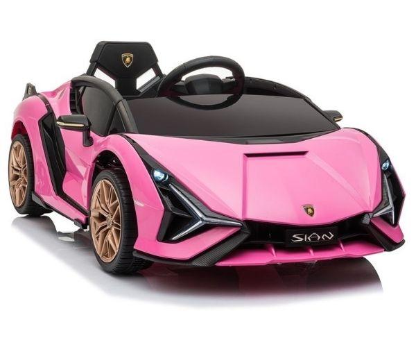 Laste elektriauto Lamborghini Sian 2x45W roosa (MP3), puldiga