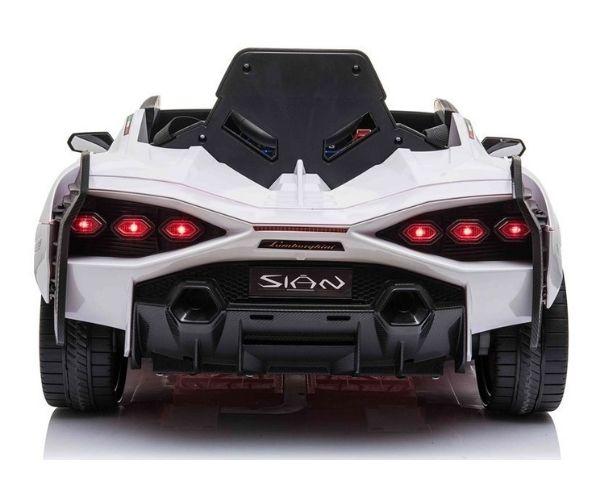 Laste elektriauto Lamborghini Sian 2x45W valge, puldiga