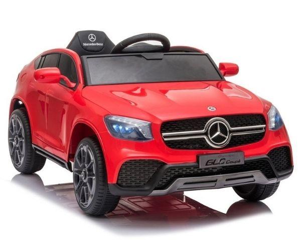 Laste elektriauto Mercedes GLC 2x45W punane, puldiga