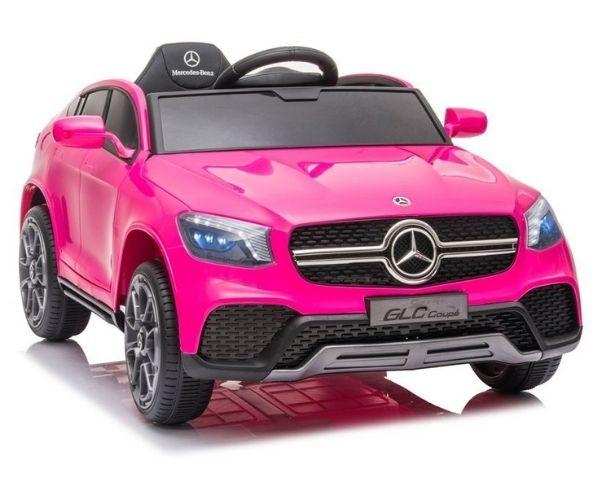 Laste elektriauto Mercedes GLC 2x45w roosa, puldiga
