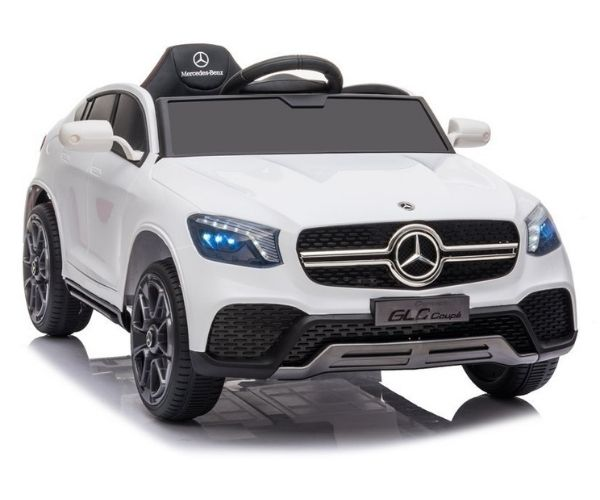 Laste elektriauto Mercedes GLC 2x45w valge, puldiga