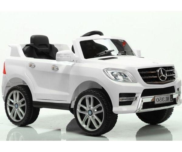 Laste elektriauto Mercedes ML350 2x45W valge, puldiga