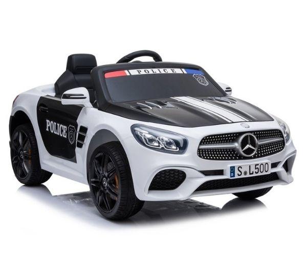Laste elektriauto Mercedes SL500 Politsei 2x45W valge, puldiga