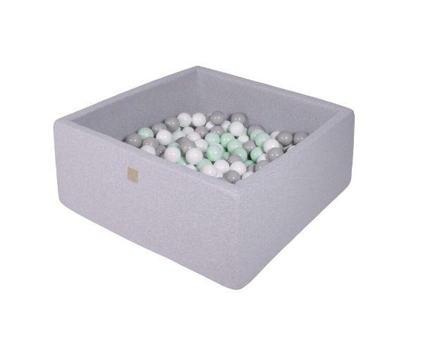 Pallimeri kandiline Meow 90x90:40cm + 200 palli (helehall-roheline-hall mix)
