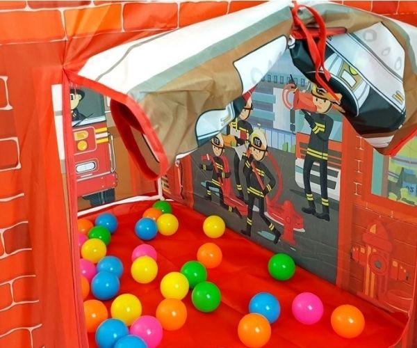 Laste mängutelk Tuletõrjujad + 50 pallimere palli