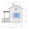 Kahekordne mängumaja Ruudi (3,6m²), naturaalne