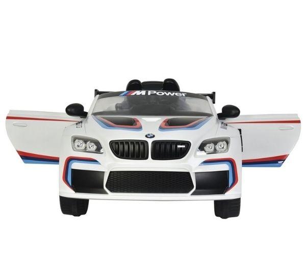 Laste elektriauto BMW M6 GT3 2x45W valge, puldiga