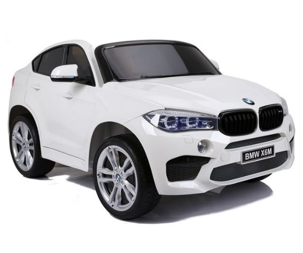 Laste elektriauto BMW X6M 2x120W valge, puldiga (2-kohaline)