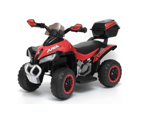 Laste elektriline ATV Quad tagaboxiga, punane_1