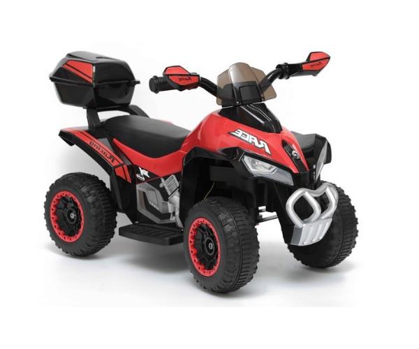 Laste elektriline ATV Quad tagaboxiga, punane_2