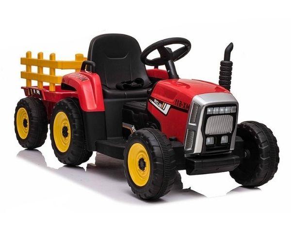 Laste elektriline traktor haagisega XMX611 2X45W, punane