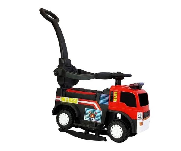 Laste elektriline tuletõrjeauto (lükkevarrega), punane_1