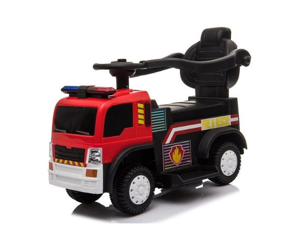 Laste elektriline tuletõrjeauto (lükkevarrega), punane_2