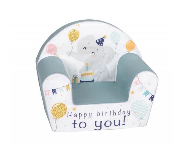Laste pehme tugitool elevandi sünnipäev