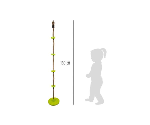Mänguväljaku ronimisköis 1,9m plastiktugede ja ahvikiigega_2