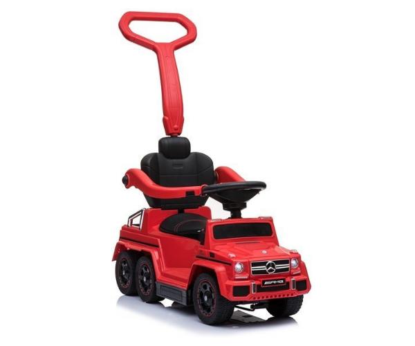 Pealeistutav auto Mercedes 6x6 helidega (lükkevarrega), punane_1