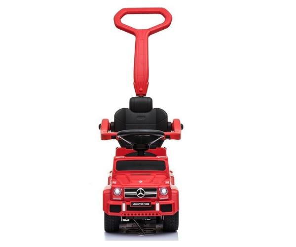 Pealeistutav auto Mercedes 6x6 helidega (lükkevarrega), punane_2