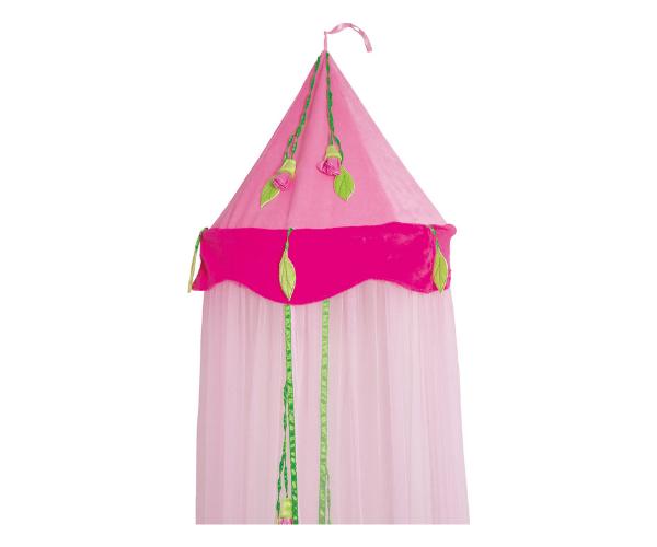 laste roosa baldahhiin lilledega (2)