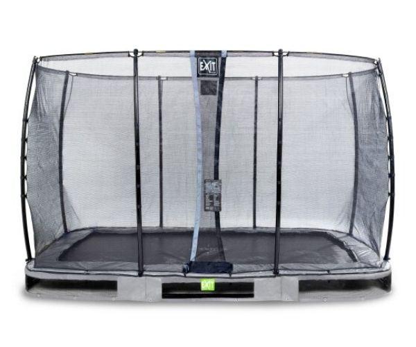 EXIT batuut maapinnale 'Elegant Standard' 244x427cm + ohutusvõrk Economy + vedrukate, hall