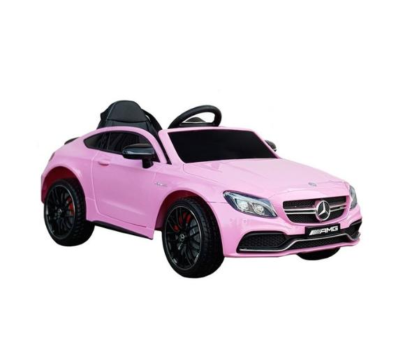 Laste elektriauto Mercedes C63 2x25w roosa, puldiga